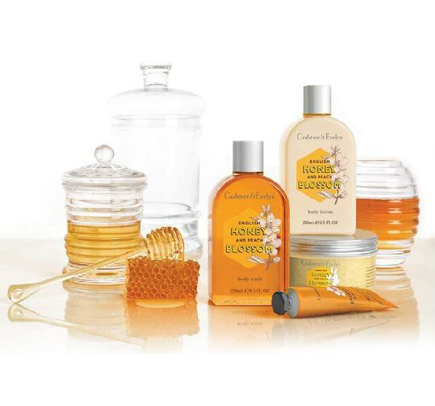 English Honey & Peach Blossom Collection from Crabtree & Evelyn