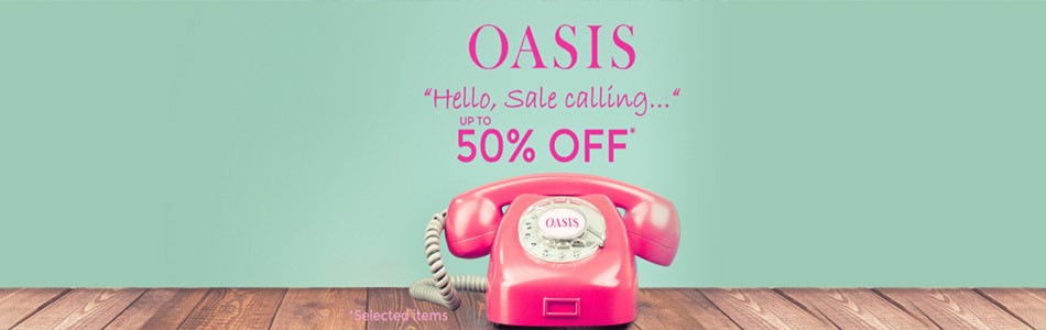 OASIS Offer Banner 50 percent